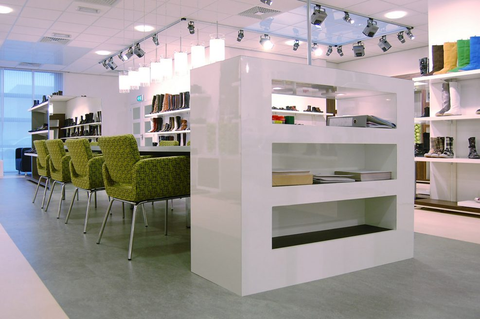 Inrichting showroom